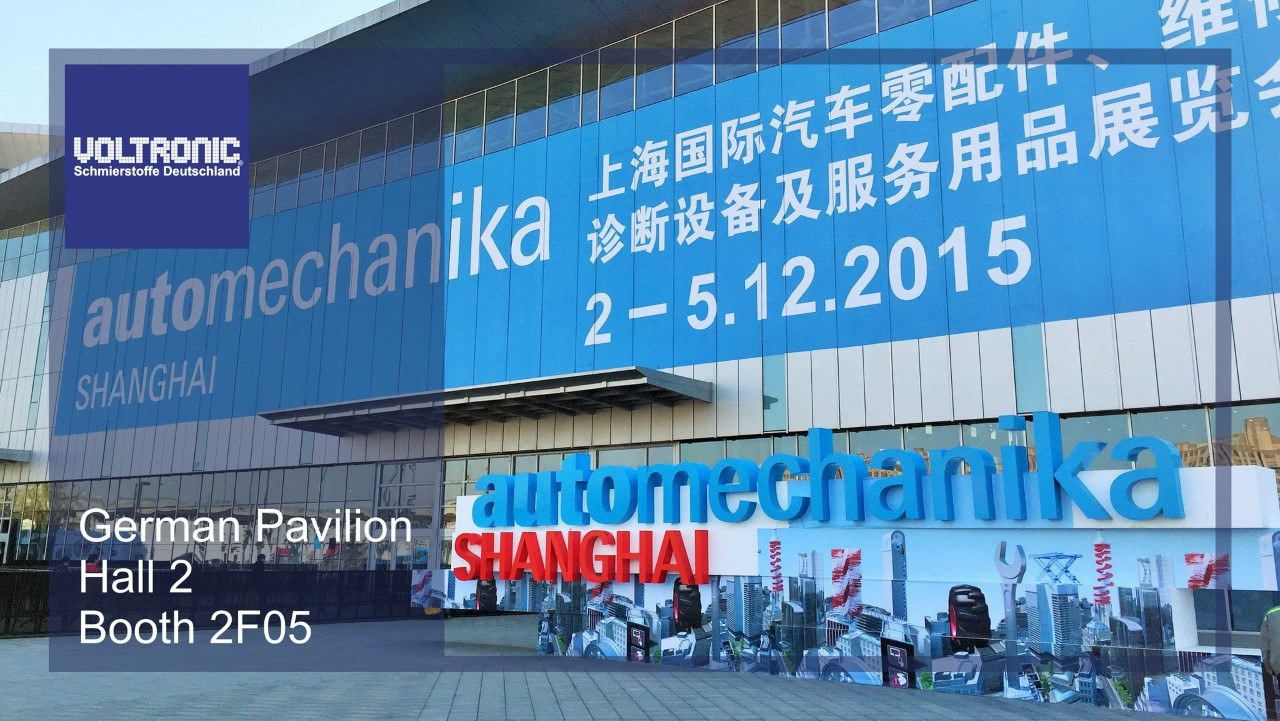 VOLTRONIC debut at Automechanika Shanghai 2015